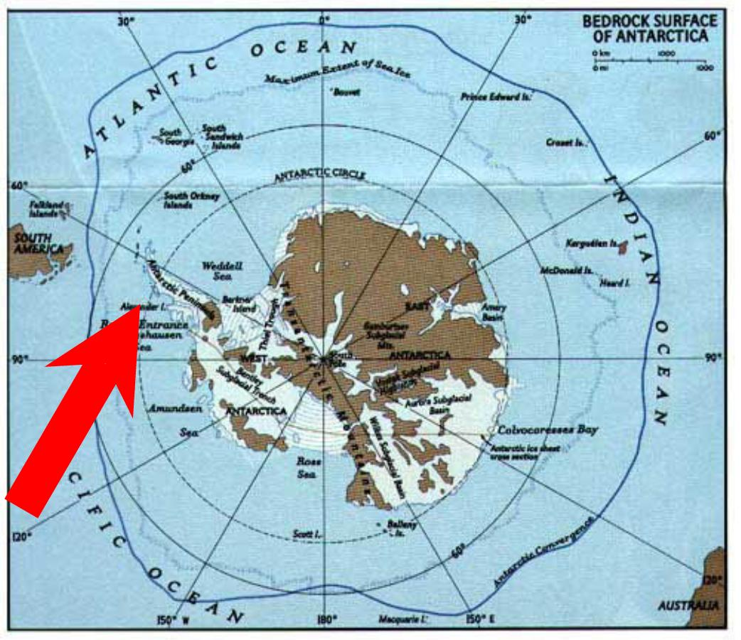 click to see enlarged view of Antarctic map, 64 KB